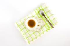 Ð ¡ omhoog van koffie op een schotel Stock Foto's
