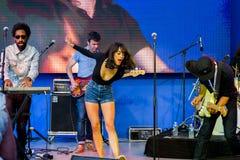 Ð ¡ oncert ' Pendentif' band in Cannes Stock Afbeeldingen