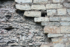 Ð'order kamieniarstwo forteczna ściana Chrom, Pskov Kremlin zdjęcia stock