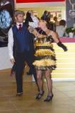 Ð-¡ ouple som dansar JUNWEX-Moskva 2014 Arkivfoton