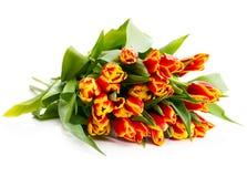 Ð'ouquet van oranje tulpen stock foto's