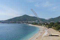 Ð-¡ rane arbeitet an der Küste Lizenzfreies Stockbild