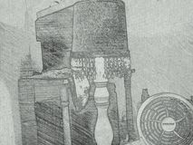 Ð'rawing на бумаге Стоковая Фотография