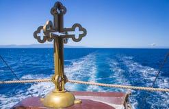 Ð ¡ Ross στην πρύμνη του σκάφους Στοκ εικόνα με δικαίωμα ελεύθερης χρήσης