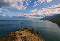 Above Lake Baikal Stock Photo