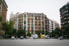 Ð ¡ rossroad w Barcelona Zdjęcia Stock