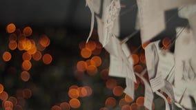 Ð  rt papieru świecznik Bokeh światła zbiory