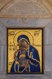 Оrthodox-Ikone der Mutter des Gottes u. des x28; Mary& x29; und Kind u. x28; Jesus Christ u. x29; Stockbild
