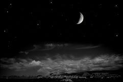 Stad på natten Arkivbild