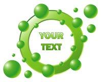 Ð'ubble logotype. Vector bubble logotype. Green style royalty free illustration