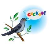 Ð-¡ uckoo stock illustrationer