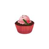 Ð-¡ upcake mit Eiscreme auf weißem Hintergrund Stockbild