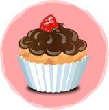 Ð-¡ upcake mit Erdbeeren Lizenzfreie Stockbilder