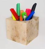 Ð-¡ upp för handstilmaterial som göras av kalksten på vit bakgrund Fotografering för Bildbyråer