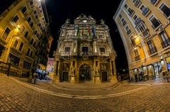 Тhe urząd miasta w Pamplona zdjęcia royalty free