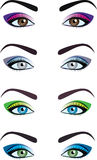 Еyes. Vector illustration of an eyes, Makeup of eyes, Make-up of female eyes Royalty Free Stock Images