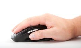 Ðand con el ratón del ordenador Foto de archivo libre de regalías