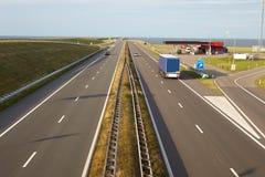 Ðighway in Nederland Royalty-vrije Stock Afbeeldingen