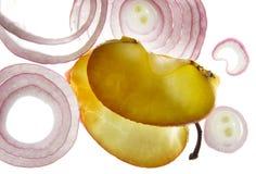 Ðpple e fatias da cebola Fotografia de Stock Royalty Free