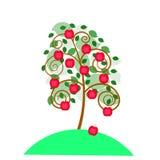 Ðpple tree. stock illustrationer