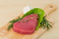 ÐRaw tonfiskbiff royaltyfria bilder