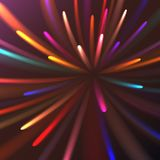 Салют пестротканого конспекта накаляя праздничный, фейерверки, волшебная энергия, гениальное электрическое космическое пламенисто иллюстрация штока