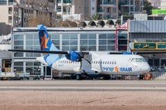 Самолет Israir на аэропорте Eilat стоковые изображения