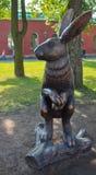 Санкт-Петербург. Скульптура зайца в Петропавловской крепости Stock Photos