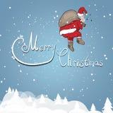 Санта Клаус на предпосылке иллюстрация вектора