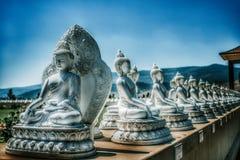 Сад Ewan тысячи Buddhas, Arlee, MT стоковые изображения