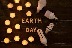 сбережениа иллюстрации энергии славные мягкие Концепция в час земли, часа без света стоковое фото