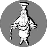 Сварите с много сосисок черно-белых иллюстрация штока