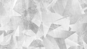 Светлый - анимация серого техника grunge 3d полигонального видео- иллюстрация вектора