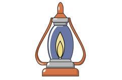 Свеча, лампа, утварь, который нужно осветить в темноте стоковая фотография rf