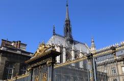 Святой-Chapelle в Париже, Франции стоковое изображение rf