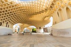 Севилья в Испании, современная архитектура rgen Mayer ¼ дизайна JÃ, парасоль Metropol (Setas de Севилья) июнь 2018 стоковые изображения rf