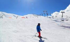 Сезон лыжи Ливана стоковые изображения