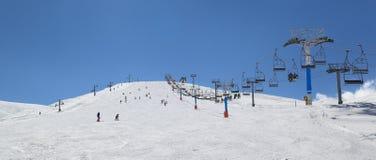 Сезон лыжи Ливана стоковое изображение
