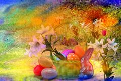 Сезон пасхи приносит семьи совместно для любов и мира стоковые изображения rf