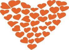 Сердце нарисовано от сердец иллюстрация вектора