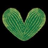 сердце терновое Кактус вектора терновый в форме иллюстрации сердца стоковая фотография