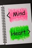 Сердце разума соединяется стоковое изображение rf