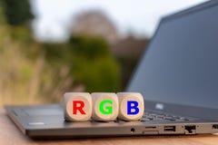 Символ для модели цвета RGB стоковая фотография rf
