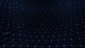 Синь вида решетки искажения бесплатная иллюстрация