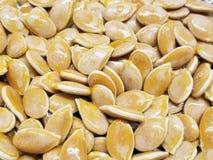 Слегка зажаренные в духовке семена тыквы стоковое изображение rf