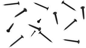 Случайно вращая винты в черном цвете иллюстрация вектора
