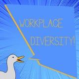 Слово писать разнообразие рабочего места текста Концепция дела для ориентации различного возраста рода гонки сексуальной работник бесплатная иллюстрация