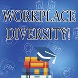 Слово писать разнообразие рабочего места текста Концепция дела для ориентации различного возраста рода гонки сексуальной работник иллюстрация вектора