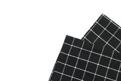 Сложенная салфетка ткани изолировала стоковое изображение