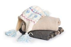 Сложенный свитер на предпосылке изоляции стоковые изображения